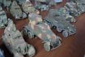 Miniaturowe modele niemieckich samochodów wojskowych