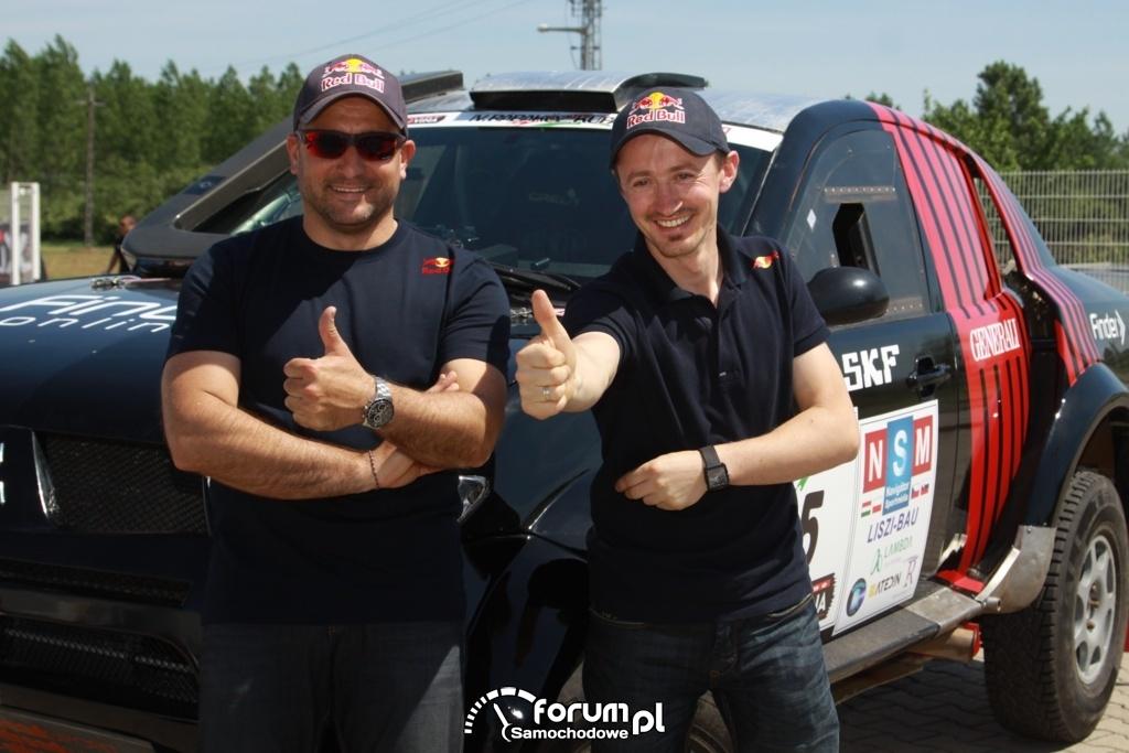 Adam Małysz i Rafał Marton w Mitsubishi L200 na Rabakoz Cup