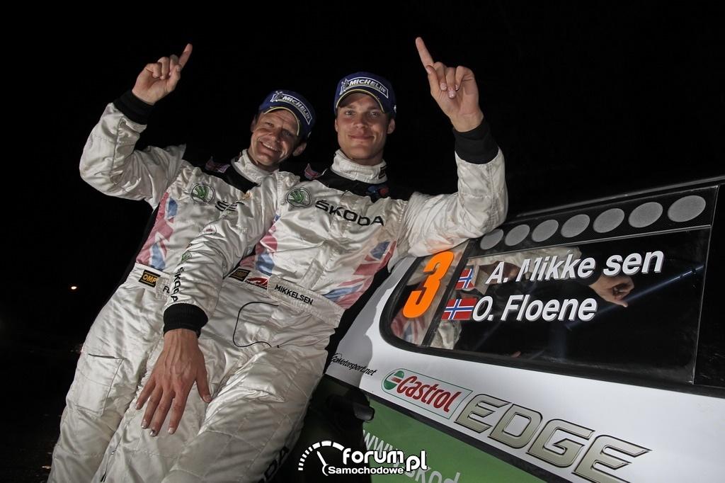 Andreas Mikkelsen i Ola Floene, załoga Fabii Super 2000