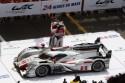 Audi R18 e-tron quattro na podium, 24 godzinny wyścig Le Mans