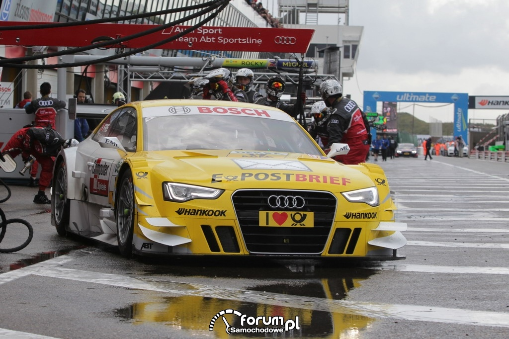 Audi Sport Team ABT Sportsline, pitstop, start