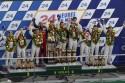 Audi Sport Team na podium, 24 godzinny wyścig Le Mans