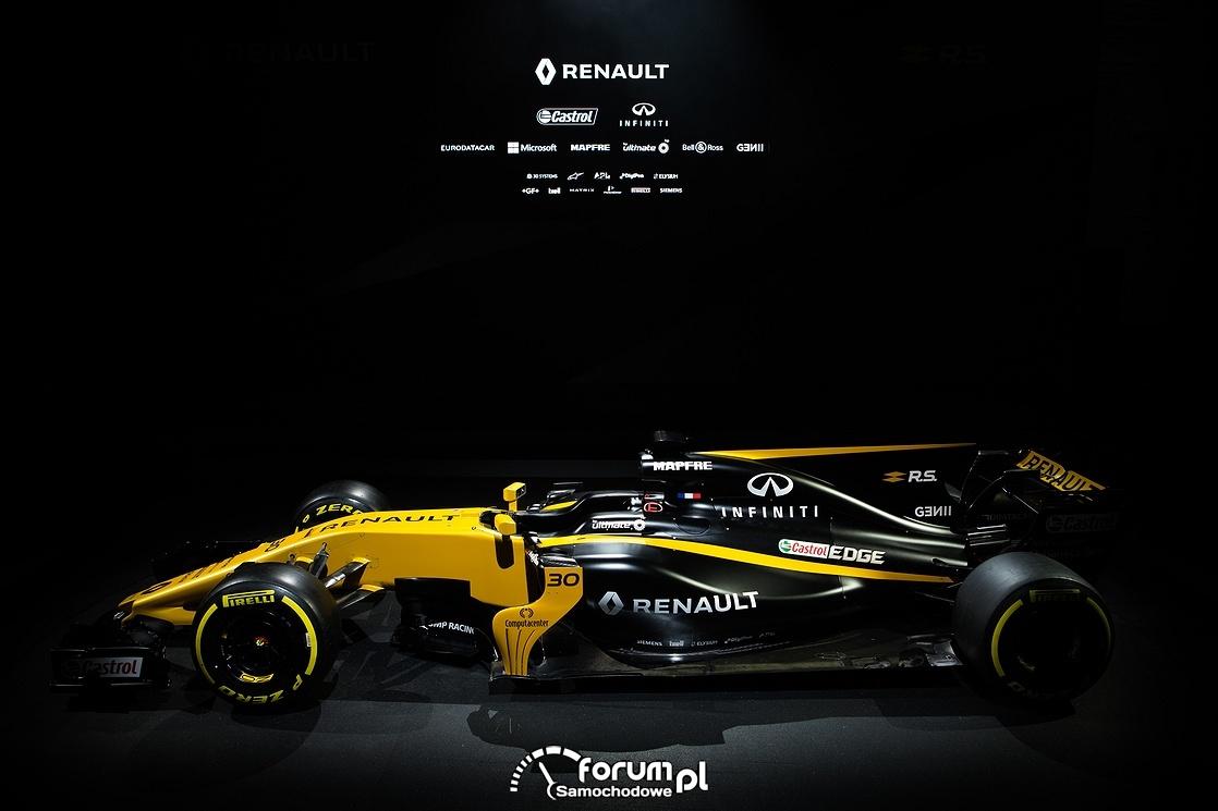 Bolid Renault bolidu R.S.17, bok