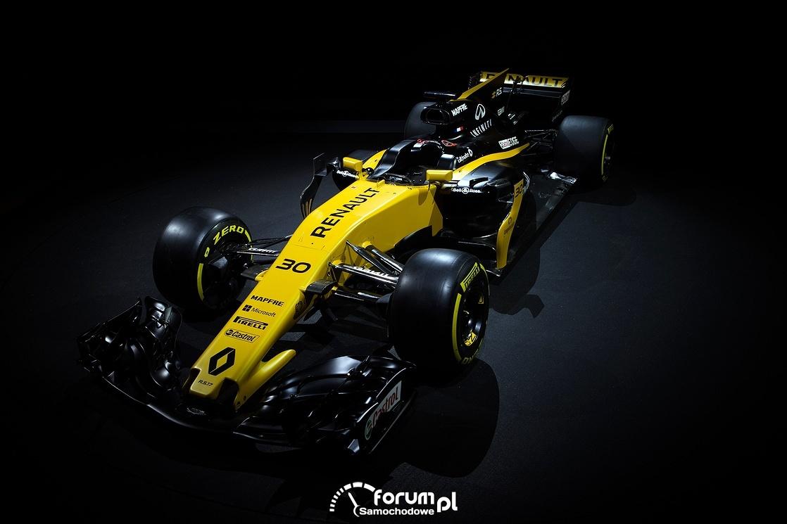 Bolid Renault bolidu R.S.17, widok z góry