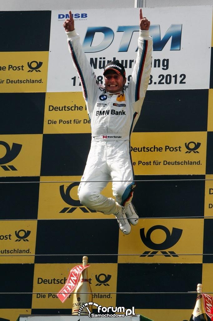Bruno Spengler, kerowca BMW Bank M3 DTM, Nürburgring, 2012
