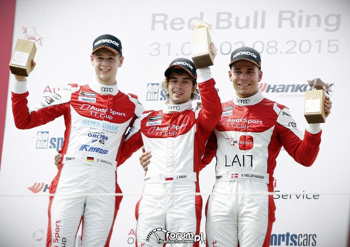 D. Marschall, J. Kisiel, N. Moller Madsen - kierowcy Audi Sport TT Cup