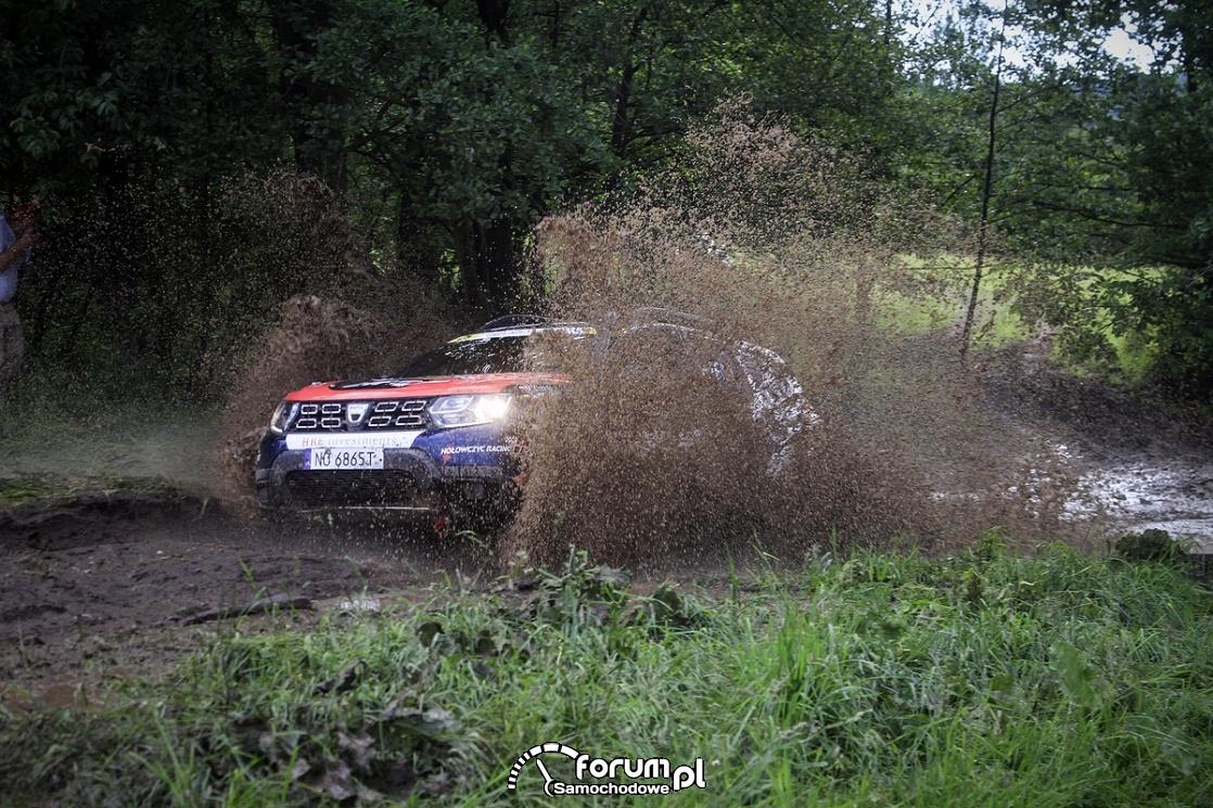 Dacia Duster Elf Cup, przejazd przez wodę
