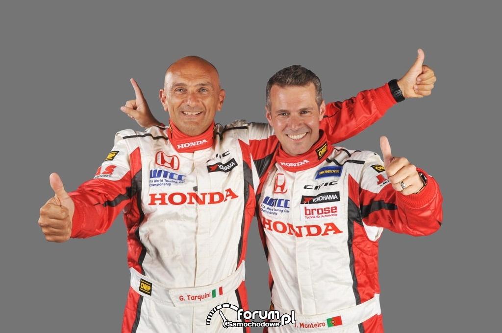 Gabriele Tarquini, Tiago Monteiro, kierowcy Honda WTCC