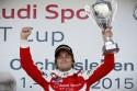 Jan Kisiel na podium, Audi Sport TT Cup