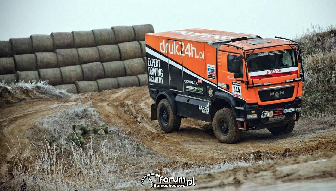 MAN - samochód ciężarowy do rajdu Dakar