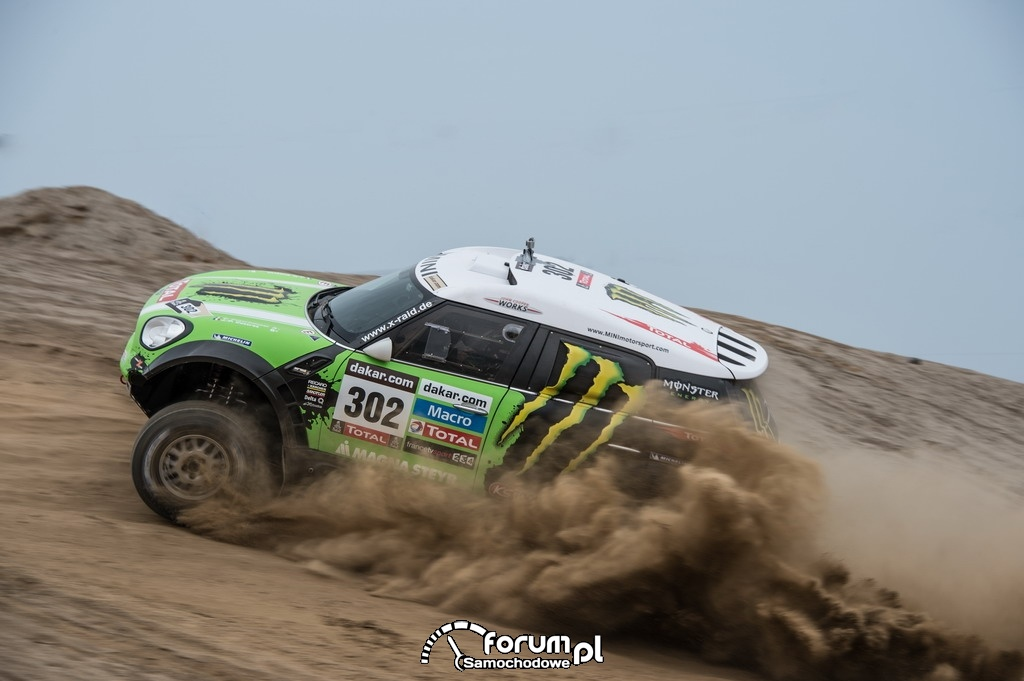 MINI ALL4 Racing Dakar 2013, numer startowy 302