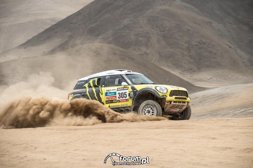 MINI ALL4 Racing Dakar 2013, numer startowy 305