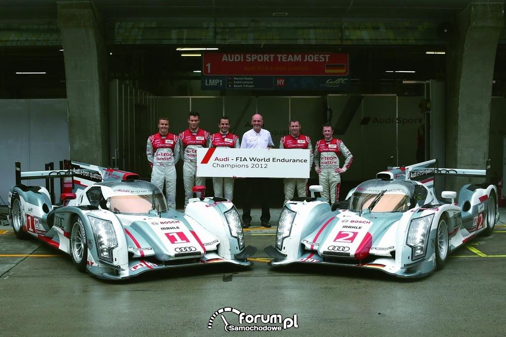 Mistrzostwa Świata FIA w wyścigach długodystansowych (WEC), Audi, 2012