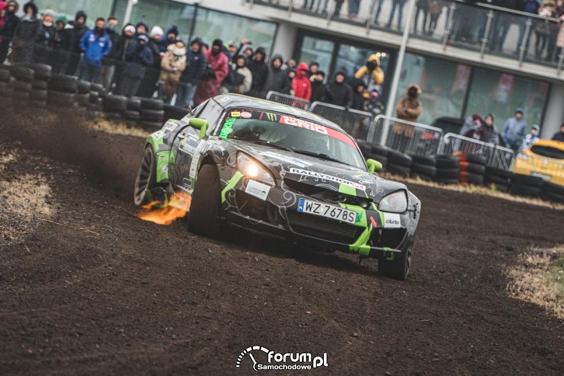 Opel GT Rajd  Barbórka, 2019, Paweł Trela, ogień z wydechu