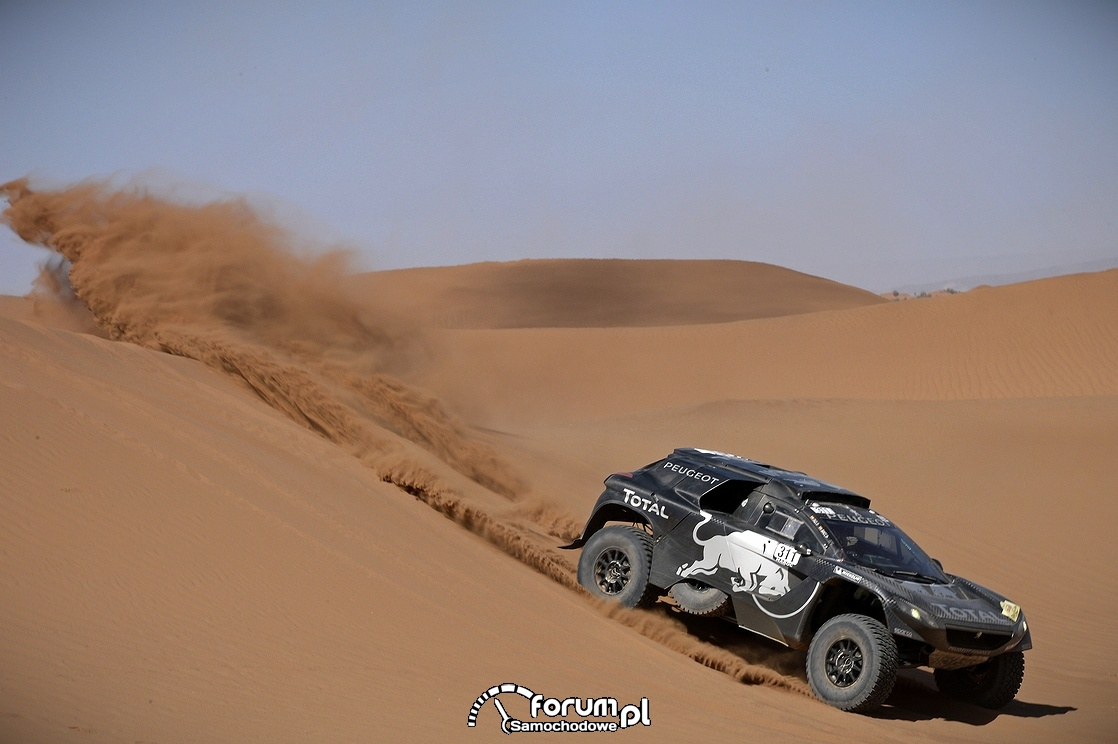 Peugeot 2008 DKR16, pustynia,  II etap Rajdu Maroka