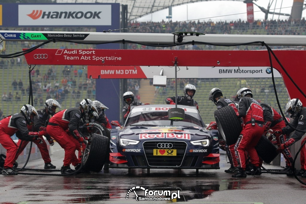 Pitstop, Audi Sport Team Abt Sportsline, DTM 2012 w Monachium