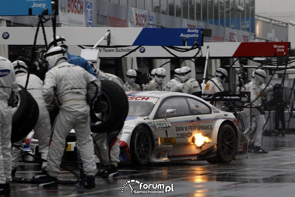 Pitstop, BMW, DTM na torze Norisring w Niemczech 2012