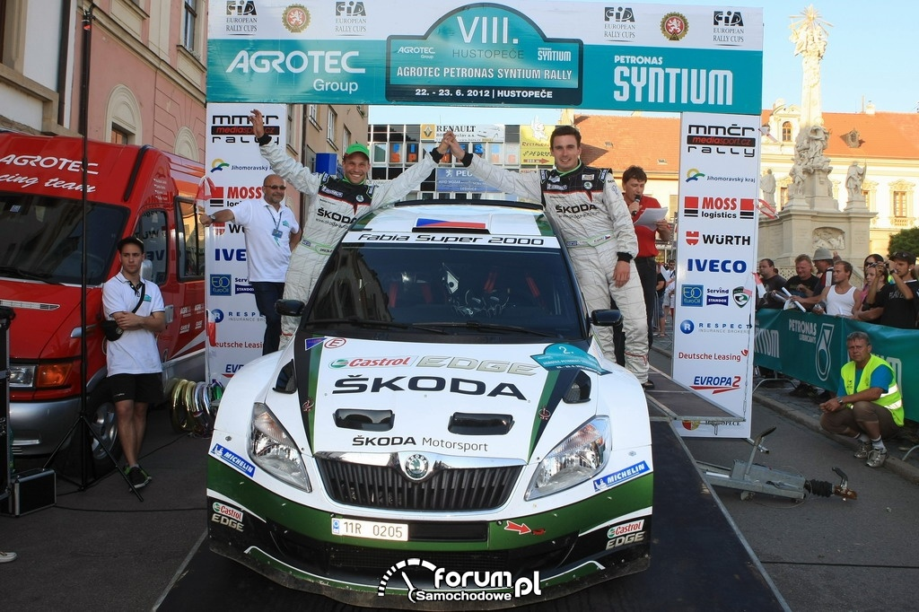 Rally Hustopece 2012, podium, SKODA Motorsport