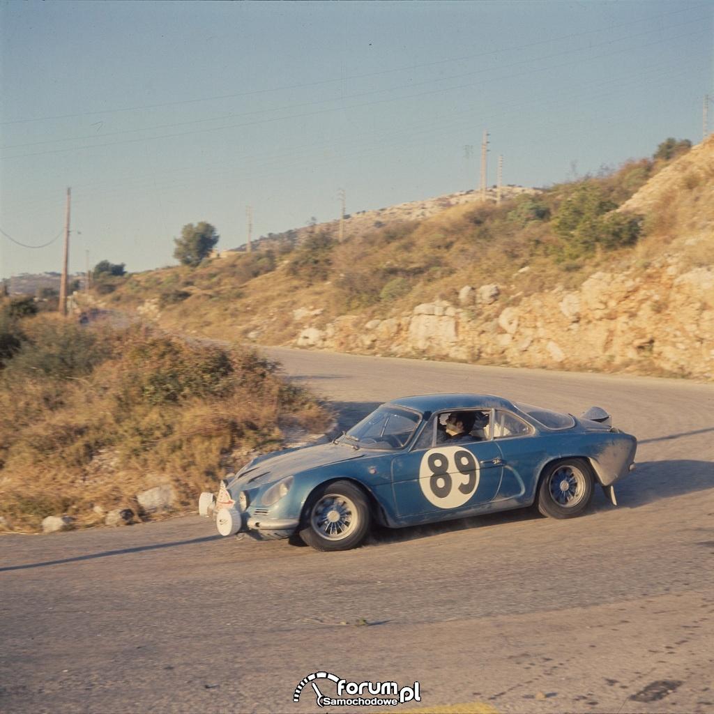 Renault Alpine A110 Rajd Monte Carlo 1968 r.