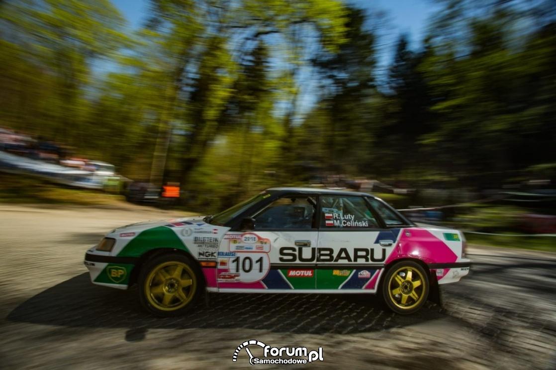 Robert Luty - Subaru Legacy, Rajd Barbórka