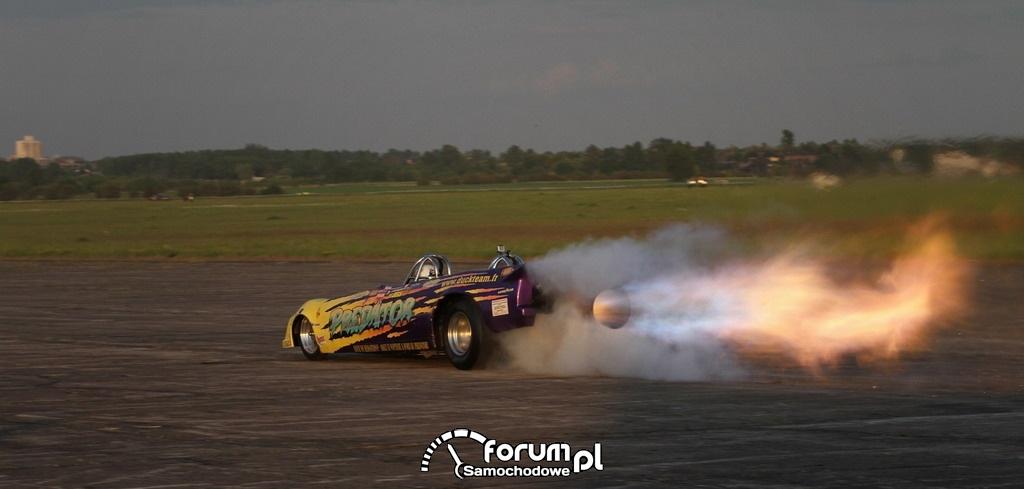 Samochód odrzutowy - Extremizer Motor Show, Lotnisko Rudniki 2012
