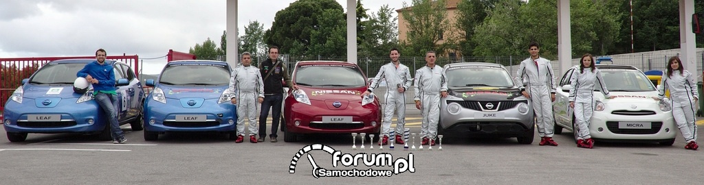 Samochody Nissana w zawodach ECOseries 2013
