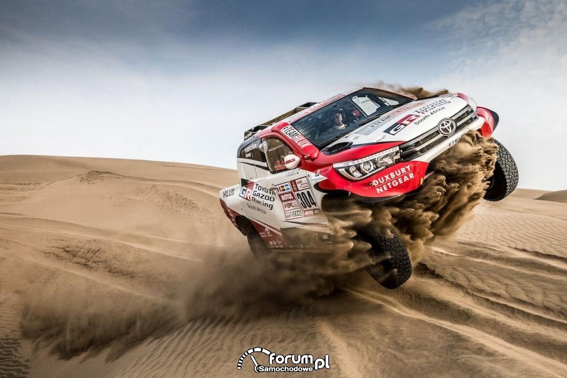 TGR - Toyota Hilux, Rajd Dakar, pustynia, piach