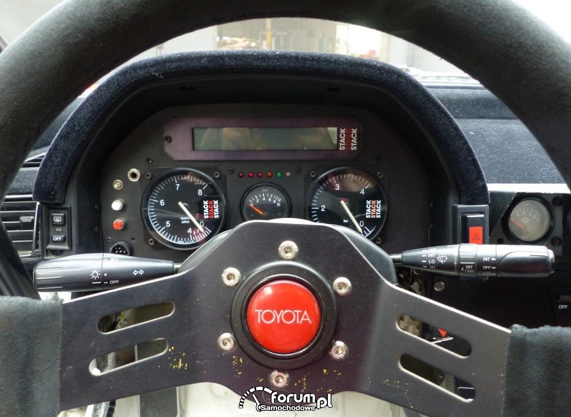 Toyota Celica ST 165, Carlos Sainz, licznik, zegary