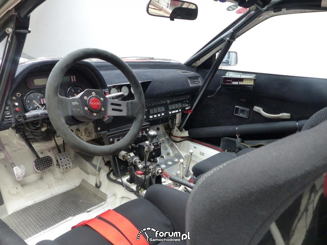 Toyota Celica ST 165, Carlos Sainz, wnętrze