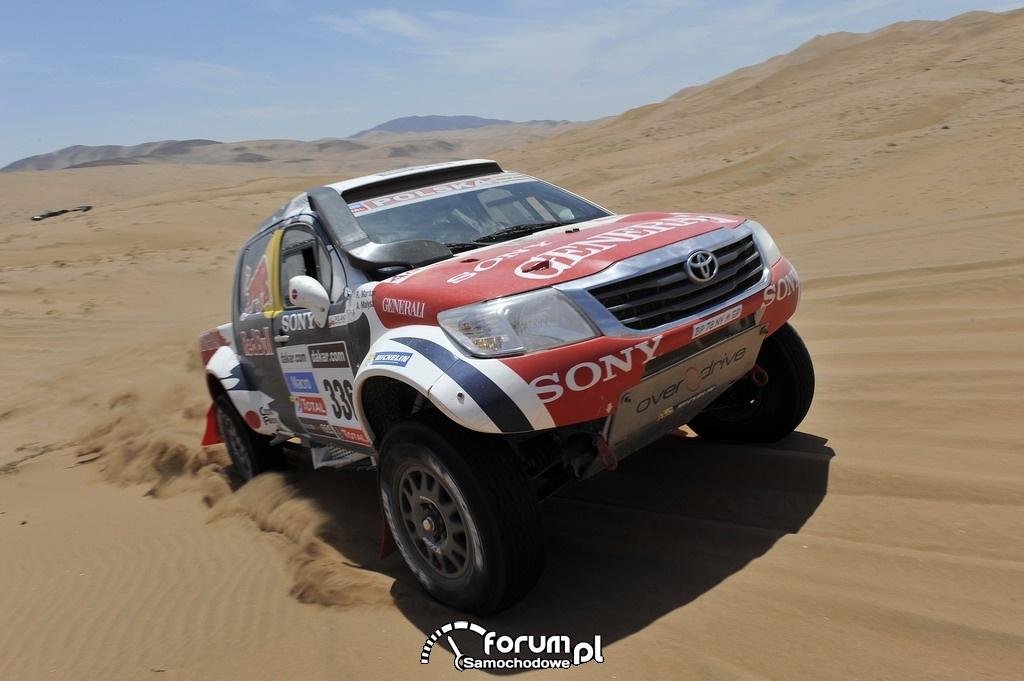 Toyota Hilux w Rajdzie Dakar 2013, zespół Małysz - Marton, 11