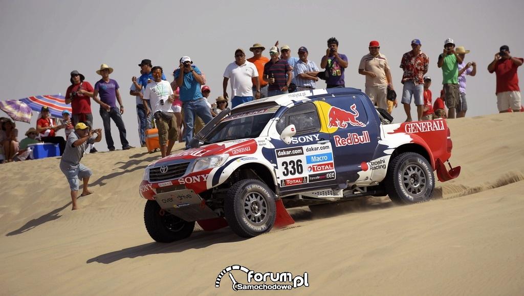 Toyota Hilux w Rajdzie Dakar 2013, zespół Małysz - Marton, 2