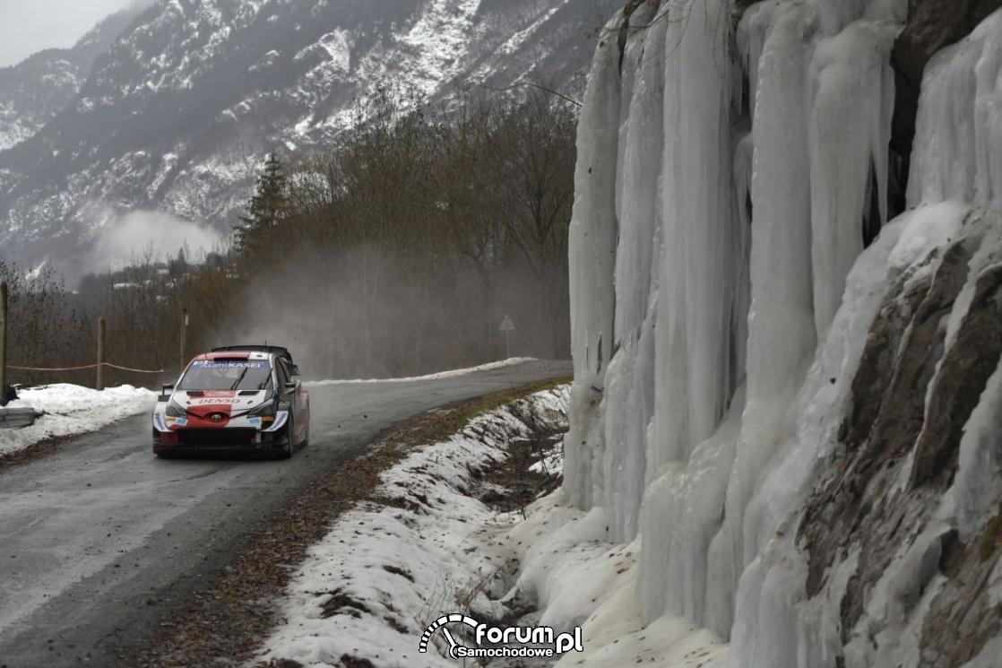 Toyota Yaris WRC, góry, zima