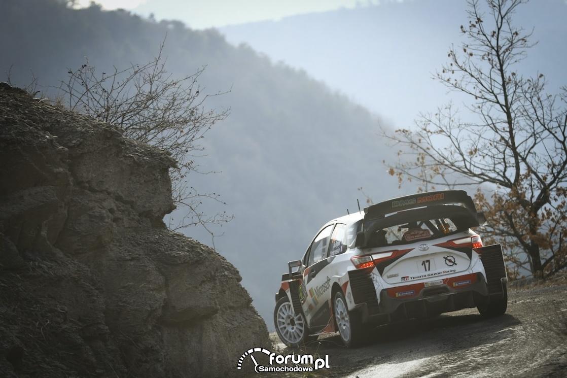 Toyota Yaris WRC, tył, góry