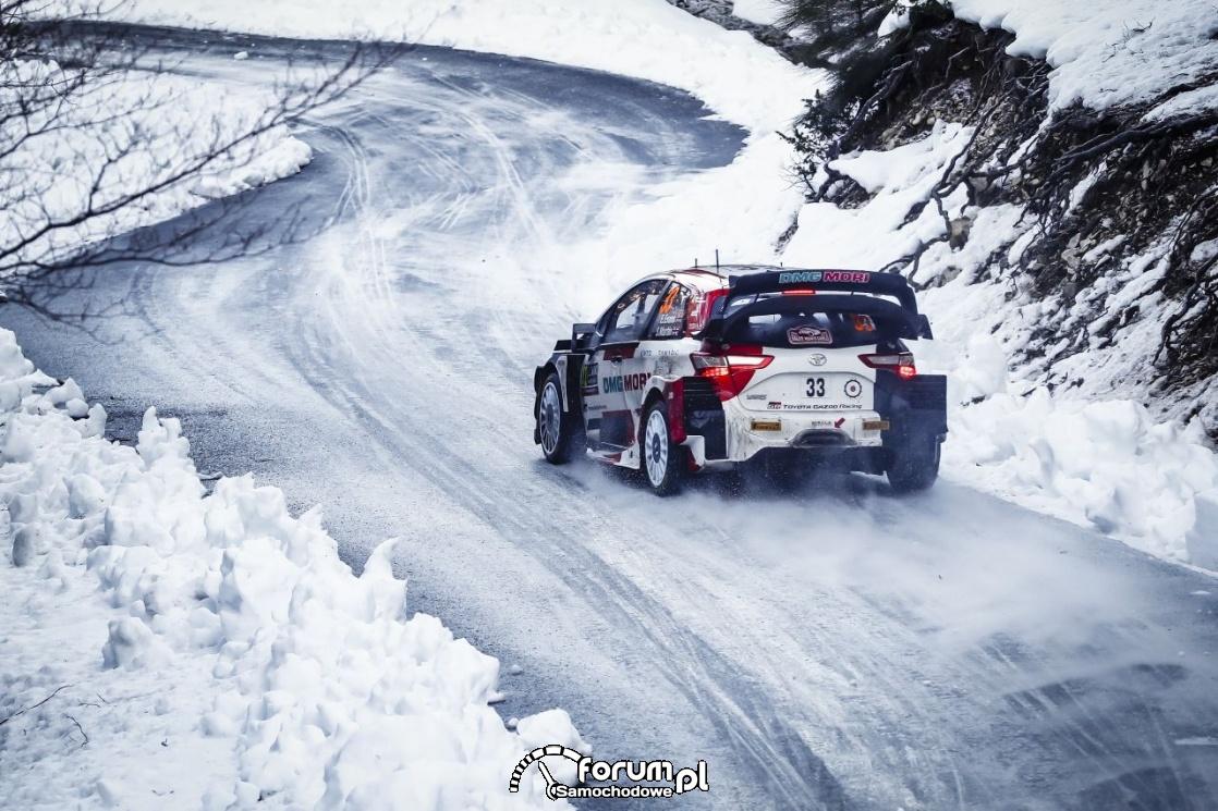 Toyota Yaris WRC, zima, tył