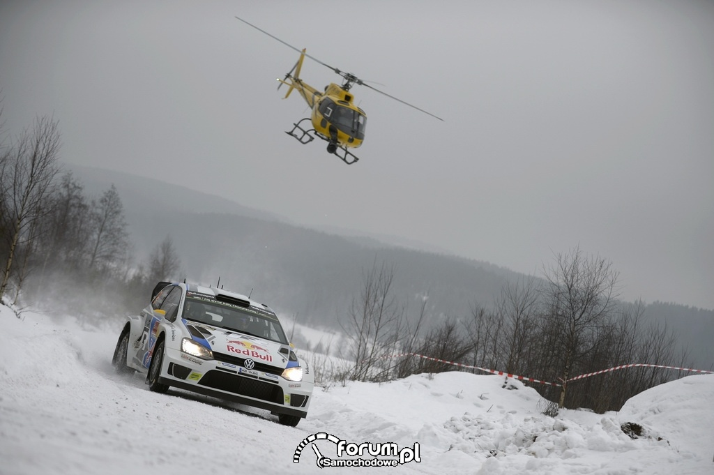 Volkswagen Polo R WRC, helikopter