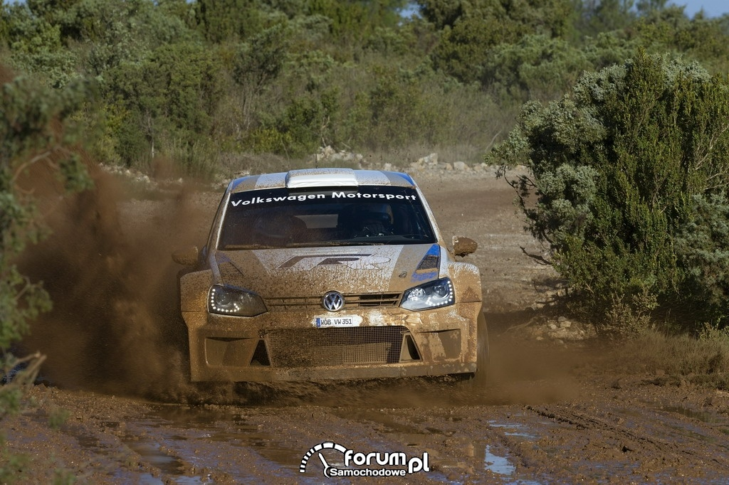 Volkswagen Polo R WRC, rajd, błoto
