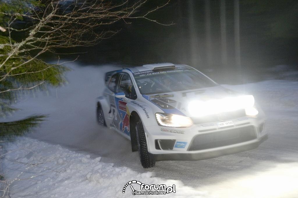 Volkswagen Polo R WRC, Rajd Szwecji w nocy