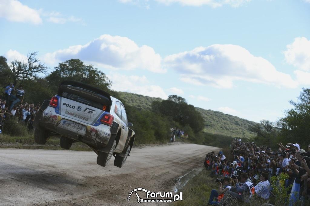 Volkswagen Polo R WRC w powietrzu, Rajd Argentyny