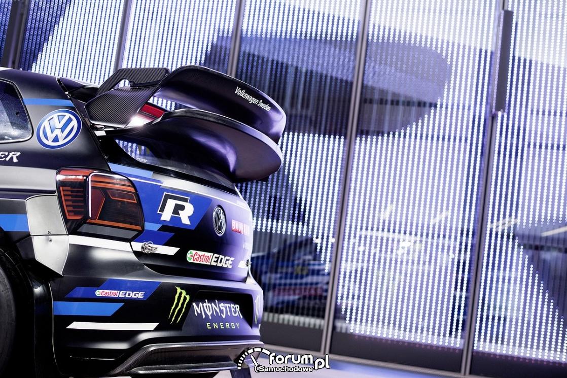 VW Polo R Supercar, tył, spoiler