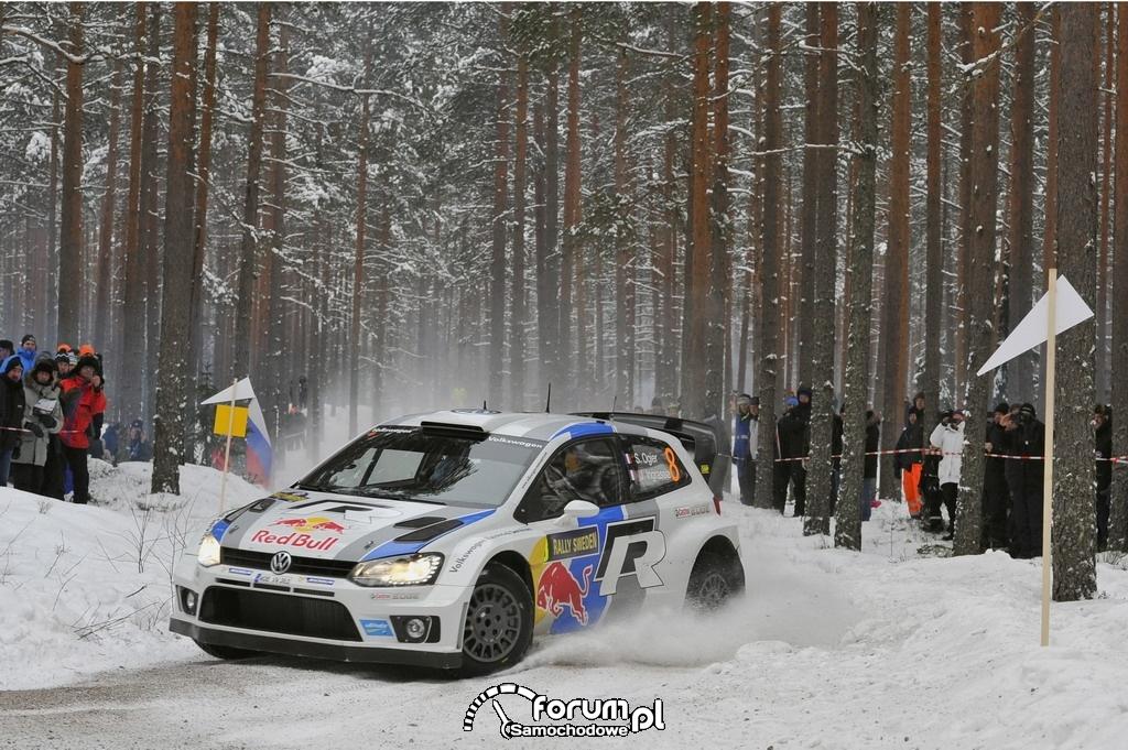 VW Polo R WRC z numerem 8, Rajd Szwecji 2013, 2