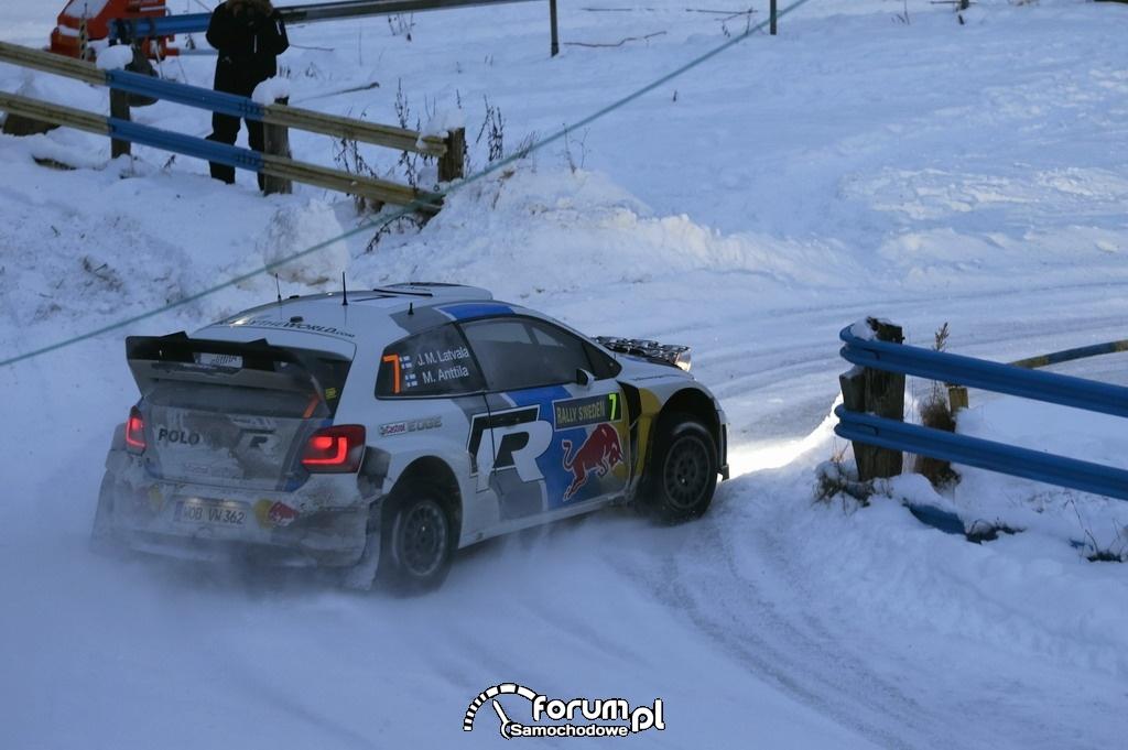 VW Polo R WRC z numerem 8, Rajd Szwecji 2013