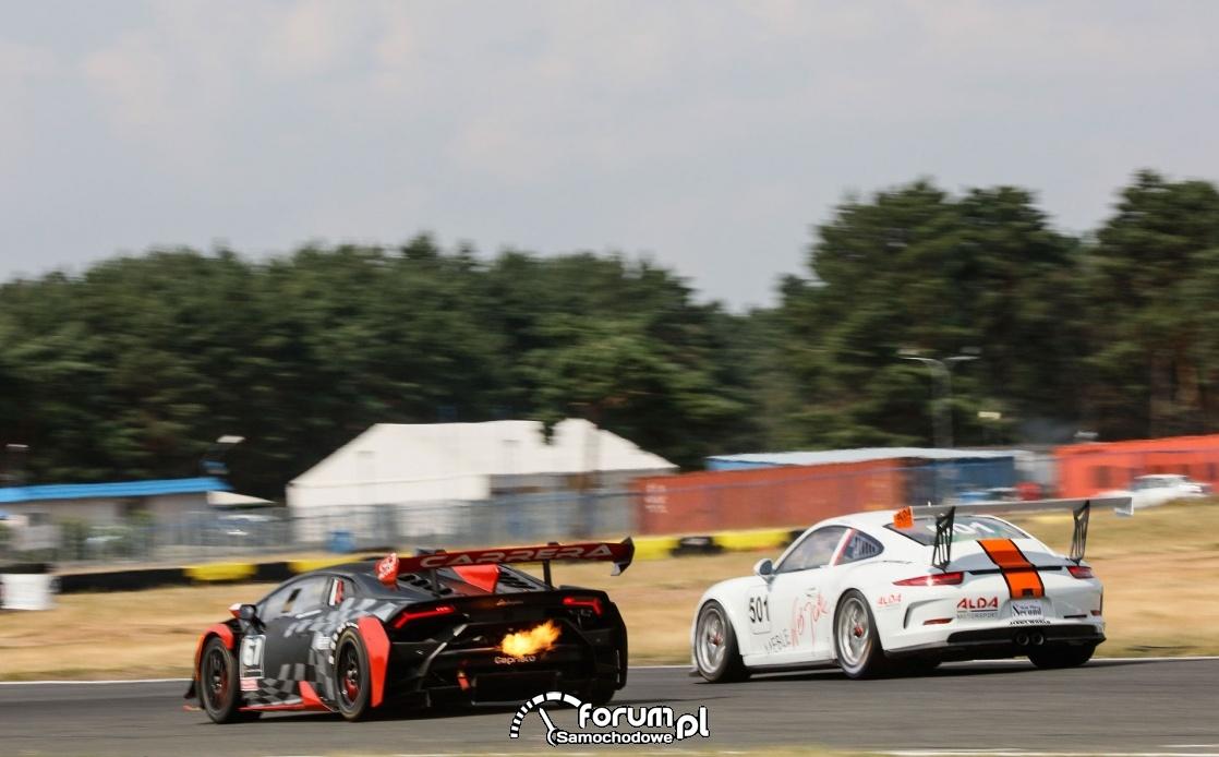 Wyścigowe Samochodowe Mistrzostwa Polski, Lamborghini vs Porsche