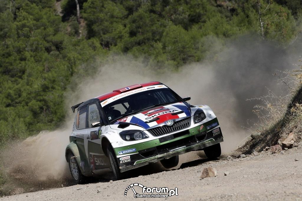 Zawody IRC 2012, Andreas Mikkelsen i Ola Floene, Skoda Fabia Super 2000