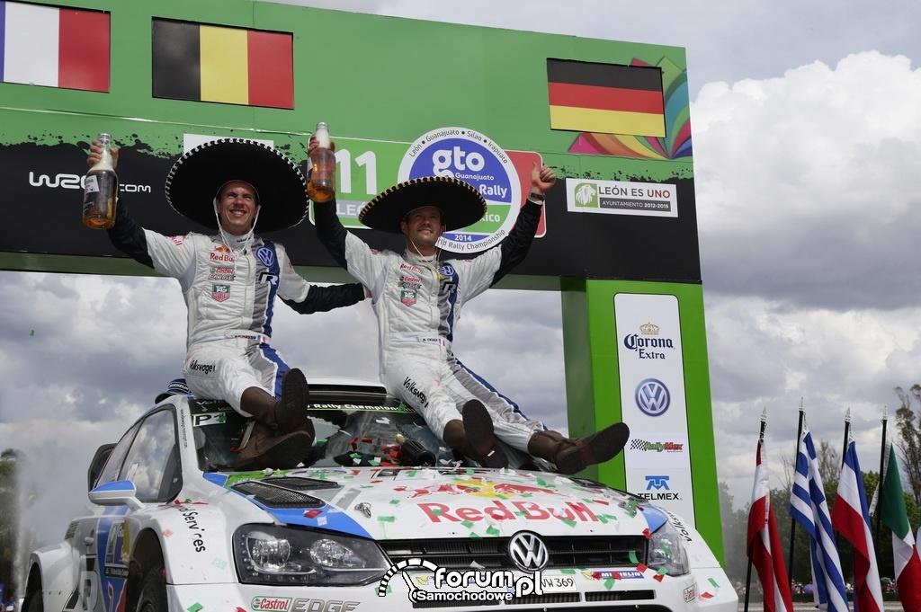 Zwycięzki zespół Volkswagena w Rajdzie Meksyku 2014