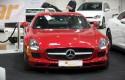 Mercedes SLS, przód, LEDy