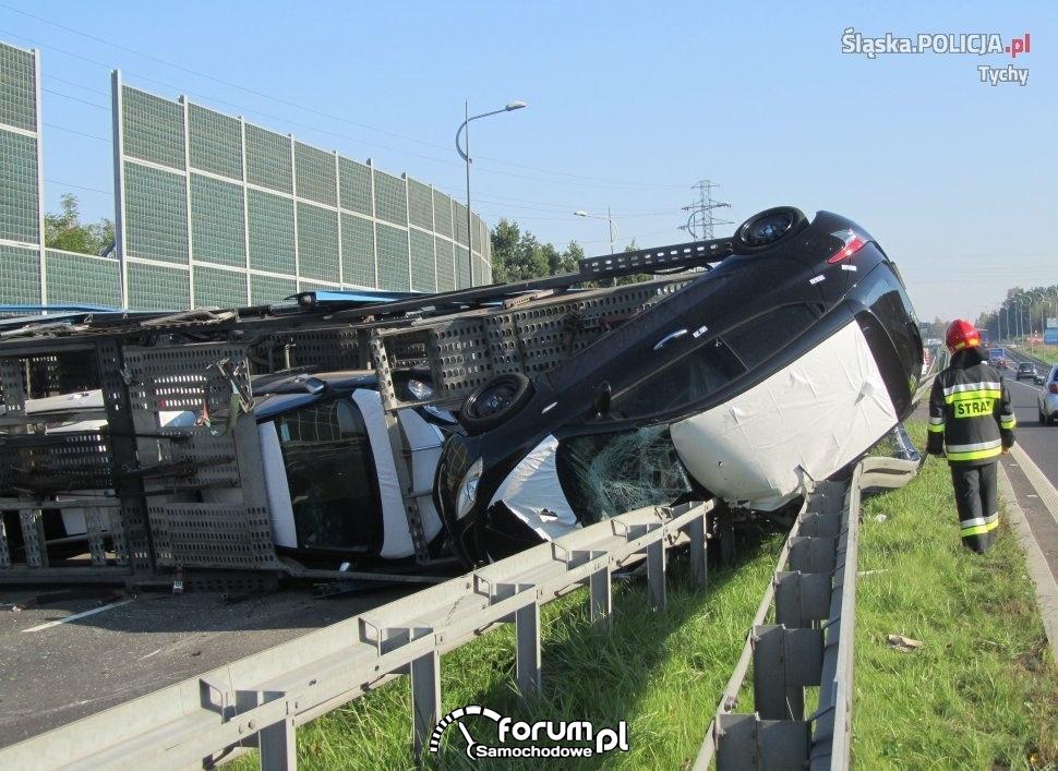 powazny wypadek na dk 1 w tychach 09 09 2016 0022