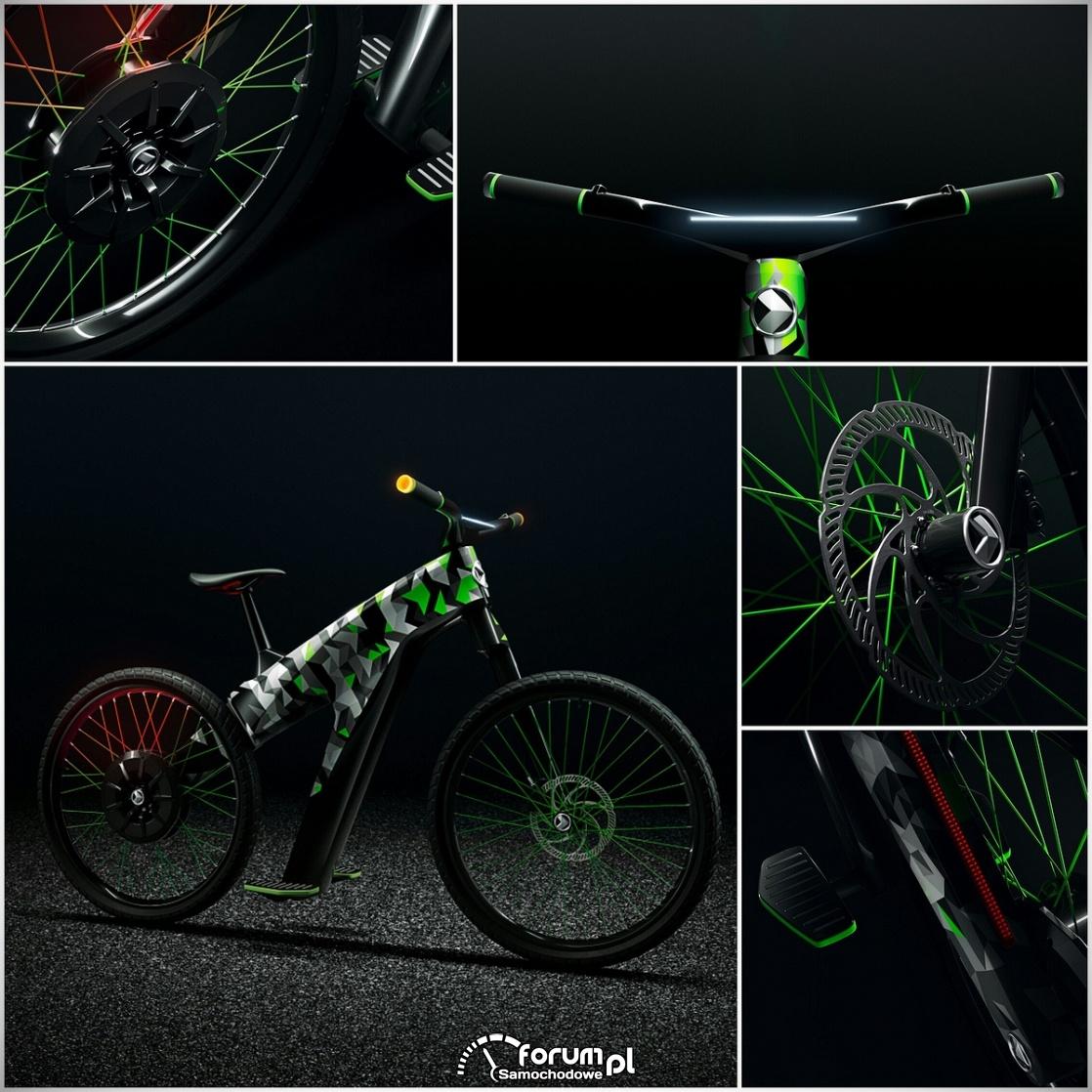 KLEMENT - koncepcyjny dwukołowy środek miejskiego transportu (rower)