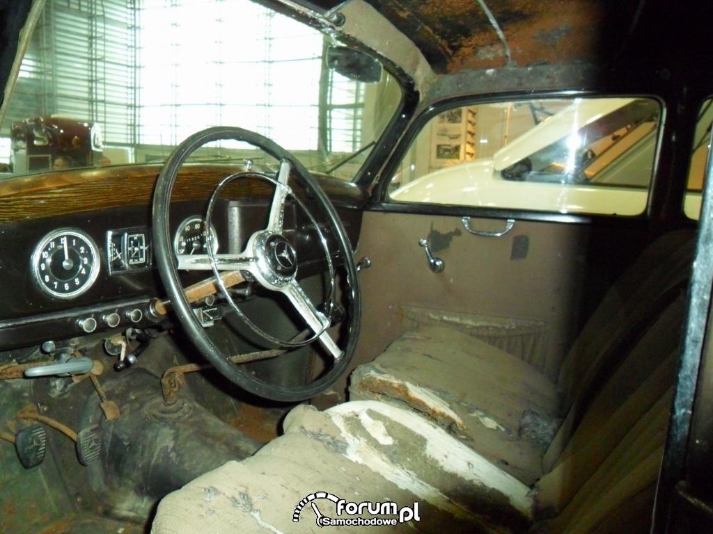 Mercedes 170S, 1949-1955, wnętrze