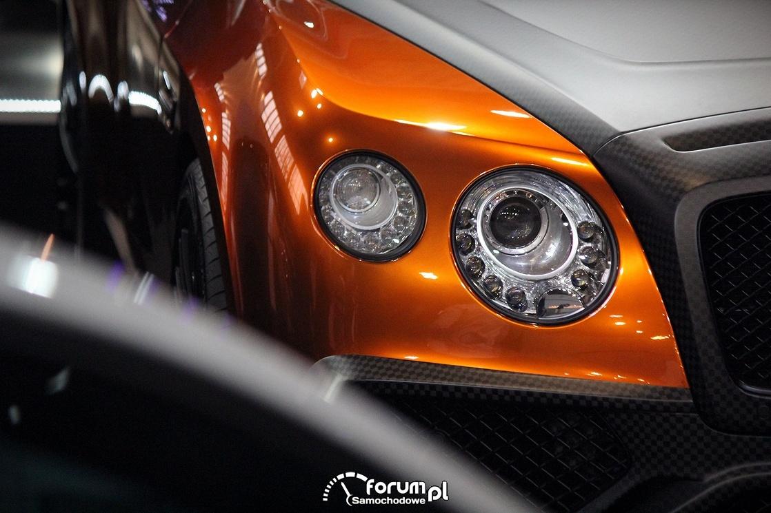 Bentley Continental Convertible, przednie światła