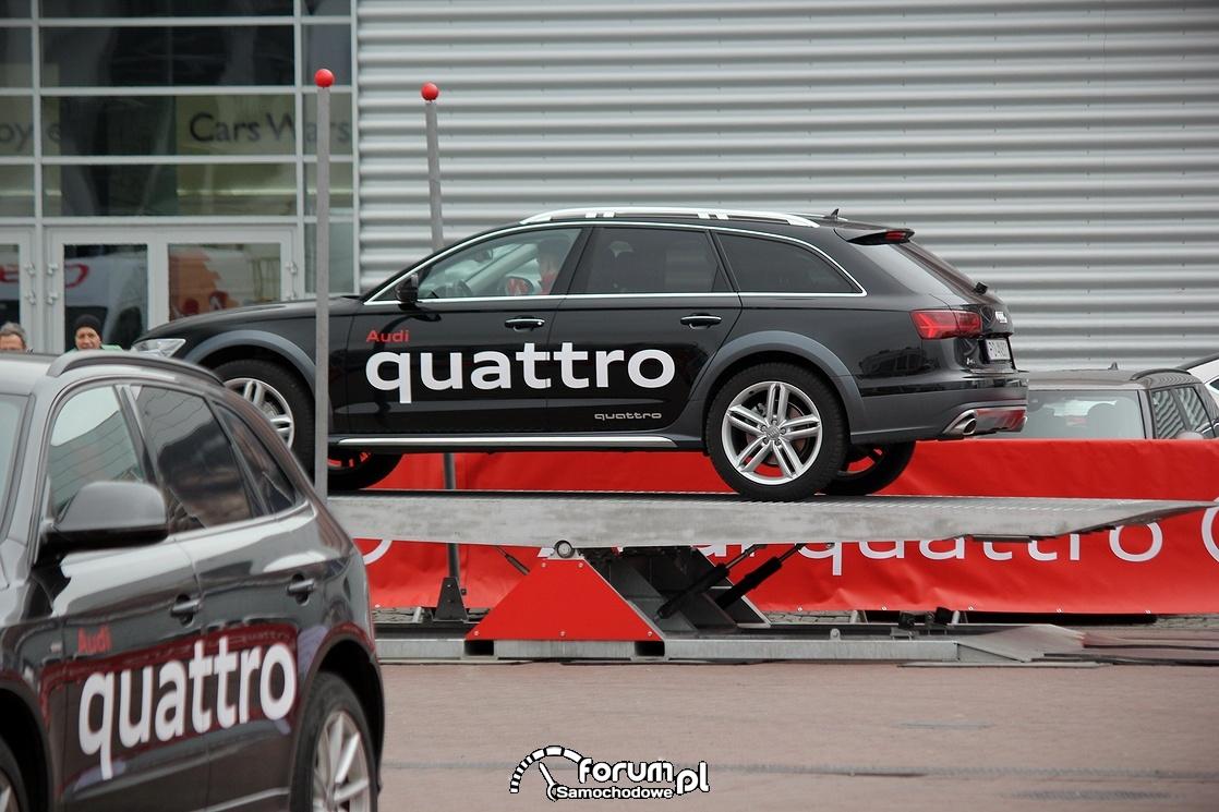 Pochylnia, Arena quattro, offroad parkur, Audi A6 Allroad
